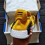 Мужские кроссовки Adidas NMD Pharrell Williams x  'Human Race' Yellow. B Живое фото (Реплика ААА+), фото 6