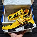 Мужские кроссовки Adidas NMD Pharrell Williams x  'Human Race' Yellow. B Живое фото (Реплика ААА+), фото 3