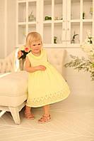 Сарафан на дівчинку, жовтий, фото 1