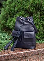 Шкіряна сумка модель 17 синій флотар, фото 1