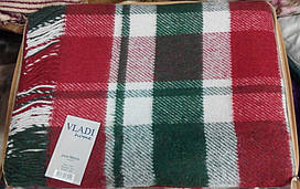 Плед Метро 140*200 красно-зеленый