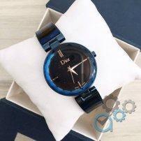 Женские часы Dior (Диор черные с синим) в Коробке ДИЗАЙНЕРСКИЕ! Жіночий годинник,  копия Гарантия, фото 2