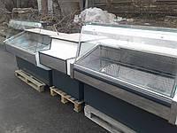 Линия витрин c при кассовым бу.  Витрины холодильные бу., фото 1