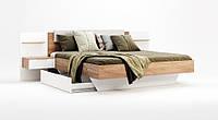 Двоспальне ліжко з мякою спинкою 160х200 з тумбами у спальню Асті Міромарк