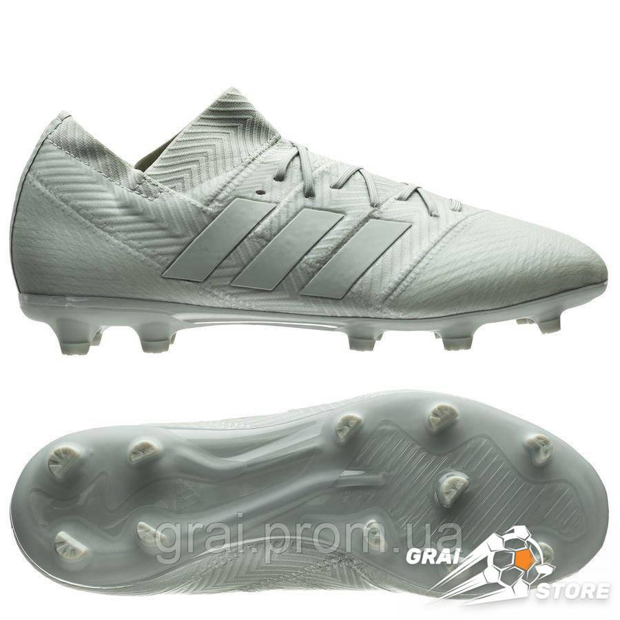 8aa95600 Детские бутсы adidas Nemeziz 18.1 FG/AG Silver/White - Интернет магазин  Грай в