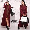 Жіноче довге пальто з підкладкою в кольорах. ВВ-1-0319, фото 3