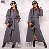 Жіноче довге пальто з підкладкою в кольорах. ВВ-1-0319, фото 4