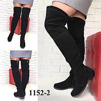 Ботфорты демисезонные итальянская замша /женская обувь/ 1152-2                 , фото 1