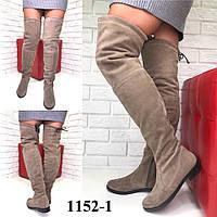 Ботфорты демисезонные итальянская замша  /женская обувь/ 1152-1                 , фото 1