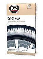 Гель для полировки и ухода за шинами K2 Sigma 500мл с спонжиком