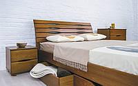Двуспальная кровать из бука Марита Люкс с ящиками ТМ Олимп