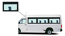 Боковое панорамное стекло Mercedes Sprinter 1995-2006 переднее левое