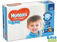 Подгузники Huggies Ultra Comfort 5 для мальчиков (12-22кг), 42 шт (41619)