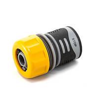 Коннектор Presto-PS для шланга 3/4 дюйма с аквастопом серия Soft-Touch (4112T)