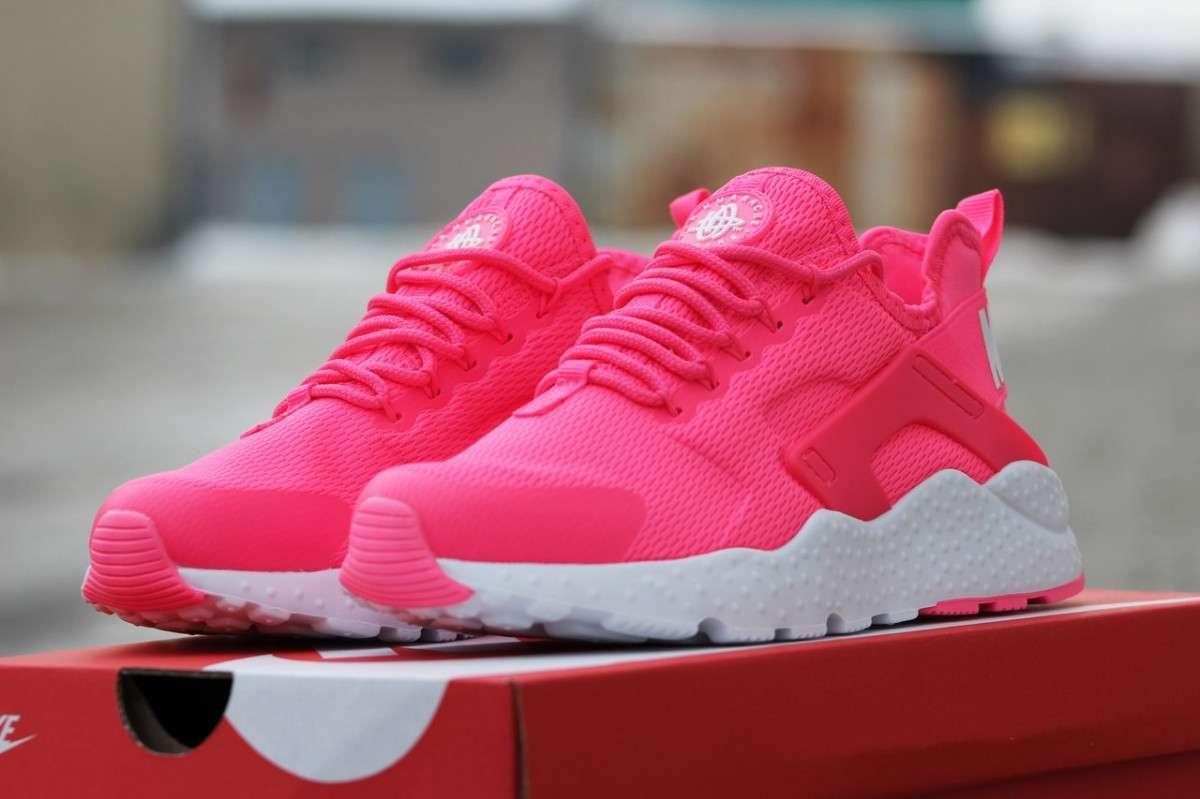 008019c5 Женские кроссовки Nike Huarache розовые 1683 (реплика) - Интернет - магазин  модной обуви и