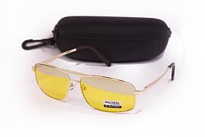 Желтые очки для водителей с футляром F8883-2, фото 2