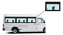 Боковое панорамное стекло Mercedes Sprinter 1995-2006 переднее правое