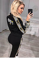 Женский спортивный костюм FENDI люксовая реплика, женский спортивный костюм FENDI, модный костюм FENDI.
