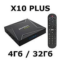Pendoo X10 Plus 4/32 | S905X2 | DDR4 | Смарт ТВ Приставка Android | Smart TV Box
