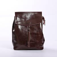 """Женский кожаный рюкзак """"Алиса Dark Brown"""""""