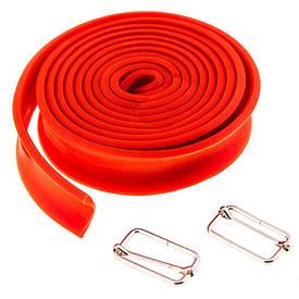 Жгут эластичный для тренировок (размер 2,6 м*3,5 см) красный 415-8B
