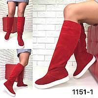 Сапоги женские спортивные -  натуральная итальянская замша /женская обувь/ 1151-1                 , фото 1