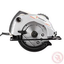 Пила дискова 1300 Вт, 5000 об/хв, кут нахилу 0-45° глибина розпилу 41/57 мм, диск 185*20 мм INTERTOOL