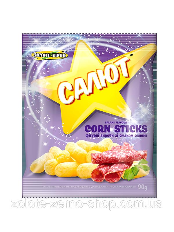 Палички кукурудзяні зі смаком салямі 90 г