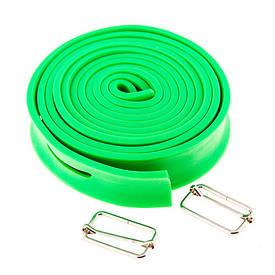 Жгут эластичный для тренировок (размер 2,6 м*3,5 см) зеленый 415-8B