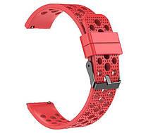 Спортивный ремешок с перфорацией для часов Samsung Galaxy Watch Active (SM-R500)/Active 2 (SM-R820/R830) - Red