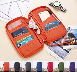 Органайзер туристический / дорожный / авиа для документов билетов паспортов с лямкой на руку 26 * 15 см