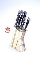 Набор ножей из нержавеющей стали с деревянной подставкой Benson