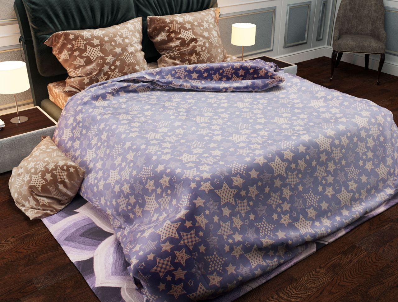 Двуспальный комплект постельного белья евро 200*220 хлопок  (11529) TM KRISPOL Украина