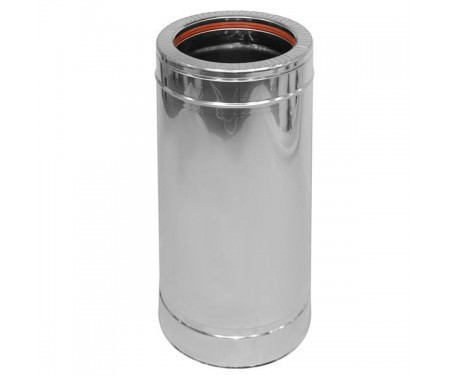 Двустенная дымоходная сендвич труба с утеплением нерж/нерж 1мм L=0,5м диам.