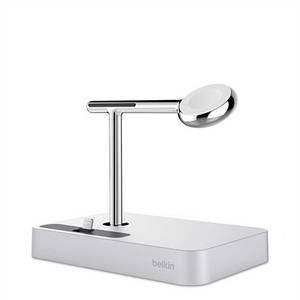 Док-станция BELKIN Charge Dock iWatch + iPhone, silver