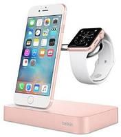 Док-станция BELKIN Charge Dock iWatch+Iphone, rose-gold