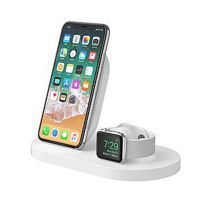 Док-станция BELKIN Qi Wireless iWatch( 1A) + iPhone (7.5W) + USB A 5W/1A , Wh