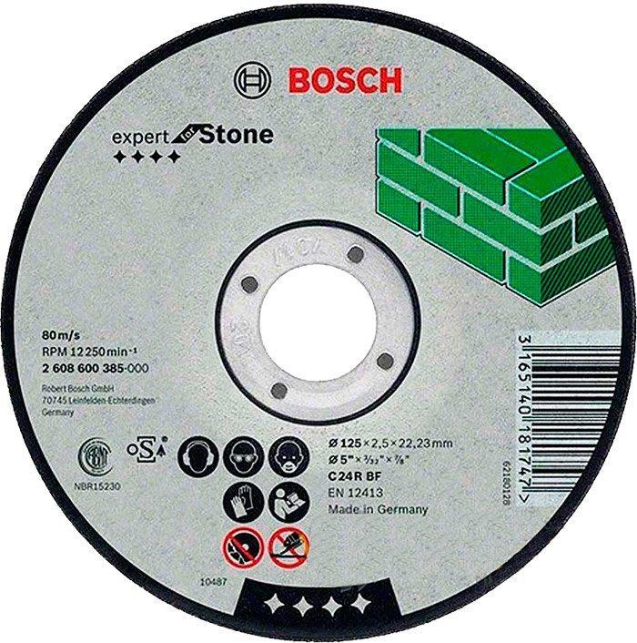 Круг отрезной Bosch Expert for Stone прямой 1252,5 мм (2608600385)