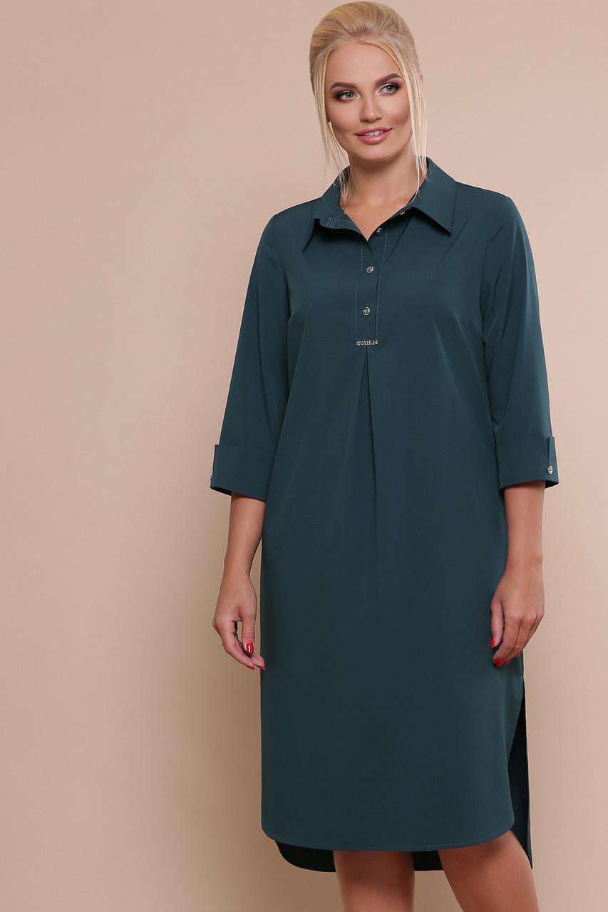 9c3f407bbd6 Женское Платье-рубашка Изумрудное Власта-Б 3 4 — в Категории