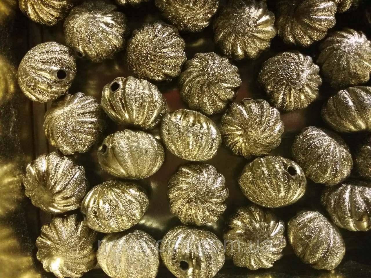 """Намистини """"зефір"""" оливкова золото 500 грам"""