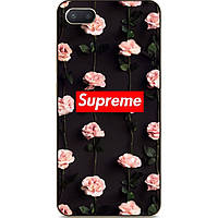 Силиконовый чехол  для Iphone 7 plus с рисунком Supreme в цветах