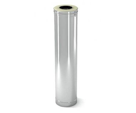 Двустенная дымоходная сендвич труба с утеплением нерж/нерж 0,8мм L=1м диам.