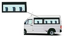 Боковое панорамное стекло средняя база Mercedes Sprinter 1995-2006 заднее левое