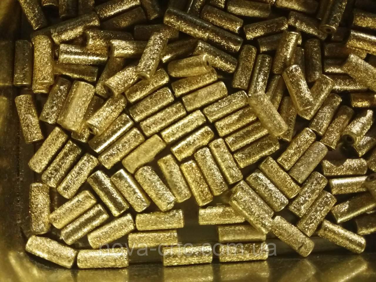 """Бусины  """"трубка"""" золото  500 грамм"""