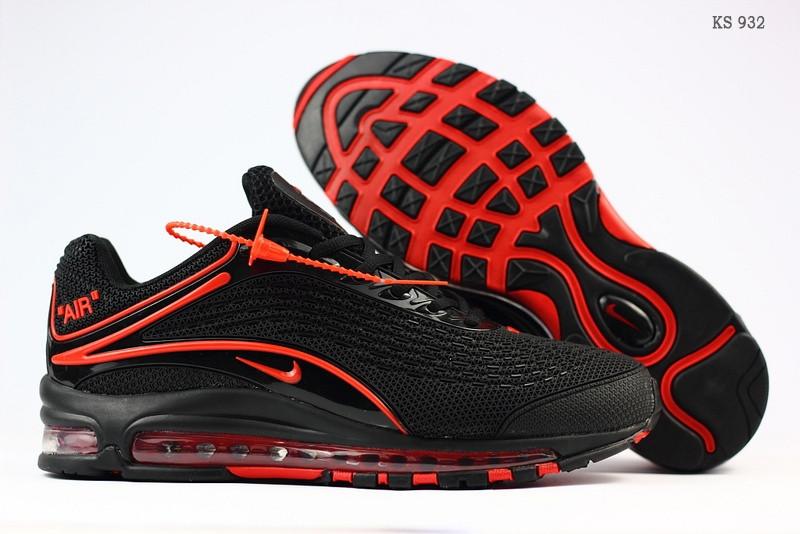 Мужские кроссовки Nike Air Max Deluxe OG 1999 Kpu (черно/красные)