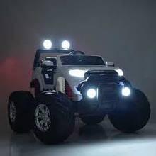 ДЖИП M 4013EBLR детский электромобиль Ford Ranger МОНСТР белый, черный, красный