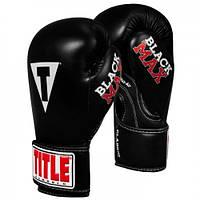 Оригинальные Детские Боксерские Перчатки TITLE Classic Black Max Boxing Gloves - Black