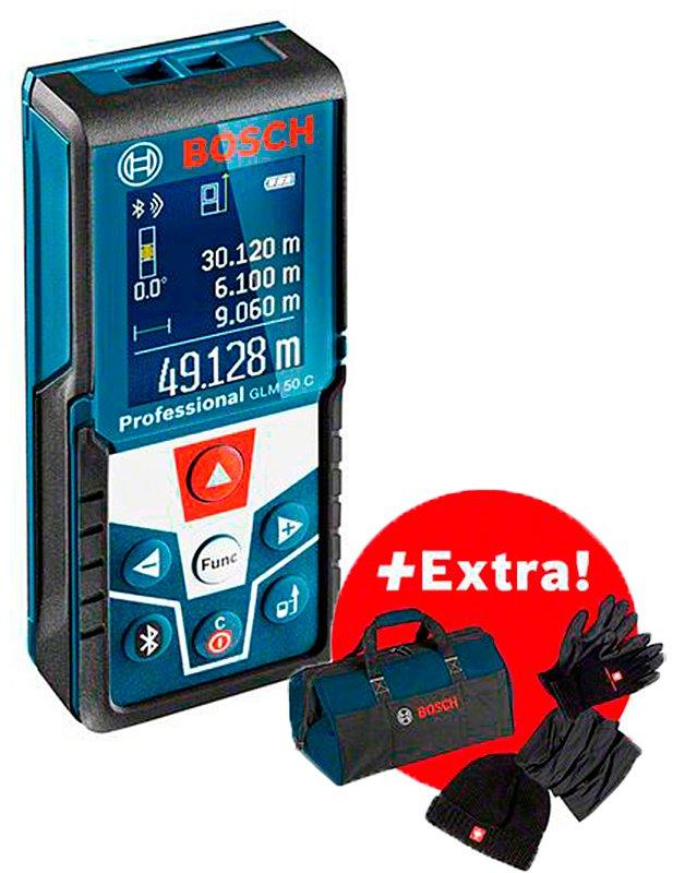 Лазерный дальномер Bosch GLM 50 C + зимний набор + сумка (06159940M1)