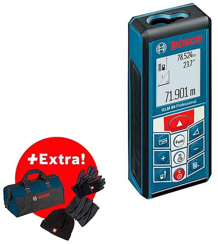 Лазерный дальномер Bosch GLM 80 + зимний набор + сумка (06159940M2)