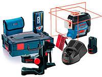 Линейный лазерный нивелир Bosch GLL 3-80 C + держатель BM 1 + приемник LR 7 + зарядка + L-Boxx (0601063R05)